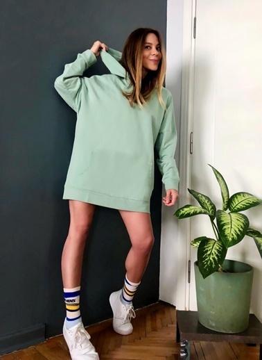NGSTYLE Oversize Kapüşonlu Sweatshirt Yeşil